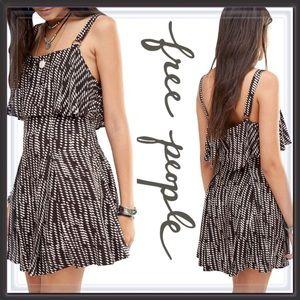 NWT Free People Printed Overlay Dress